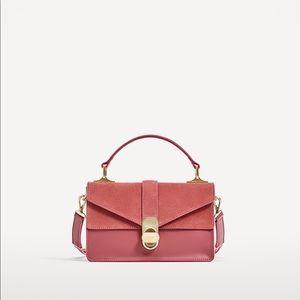 Zara Rose Suede Crossbody purse